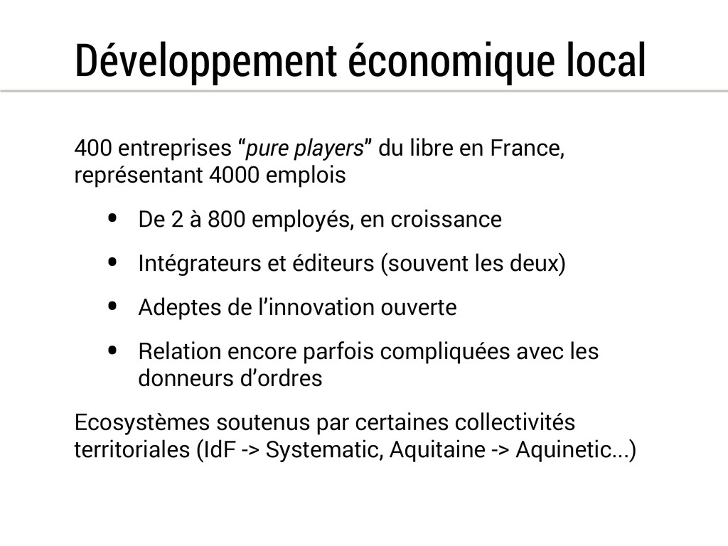Développement économique local 400 entreprises ...