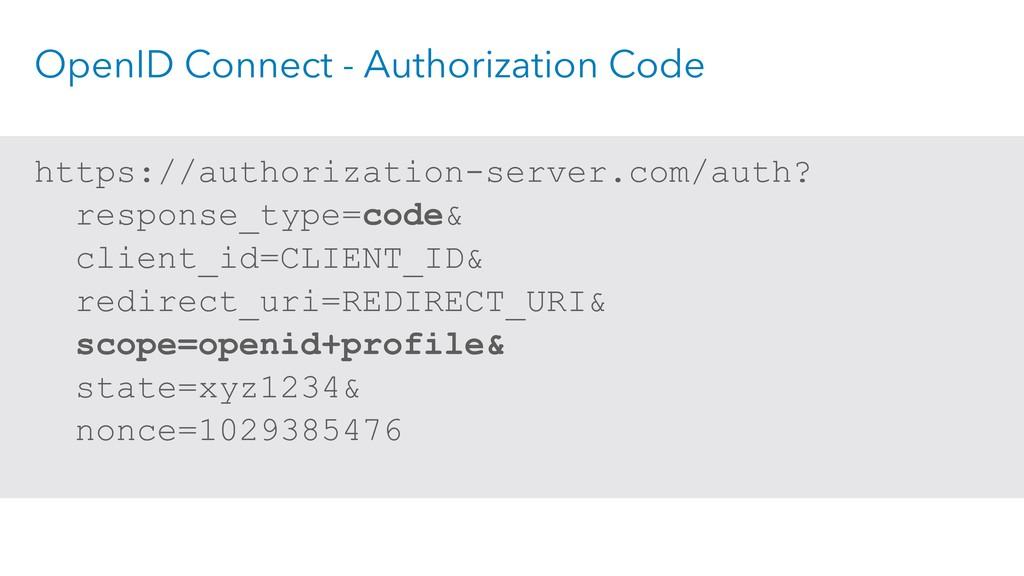 OpenID Connect - Authorization Code https://aut...