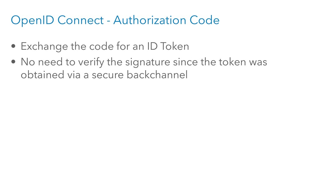 OpenID Connect - Authorization Code • Exchange ...