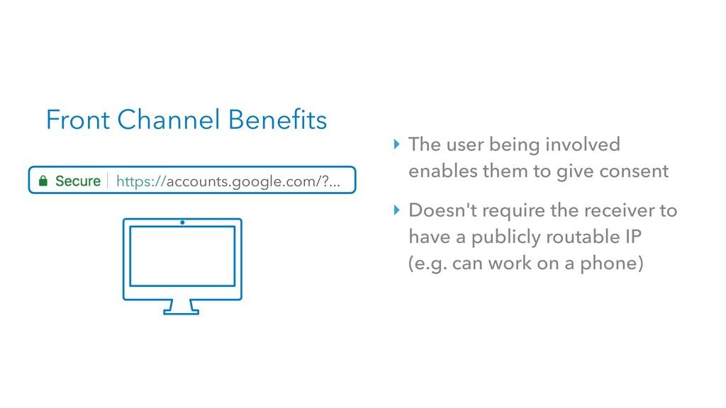 Front Channel Benefits https://accounts.google....