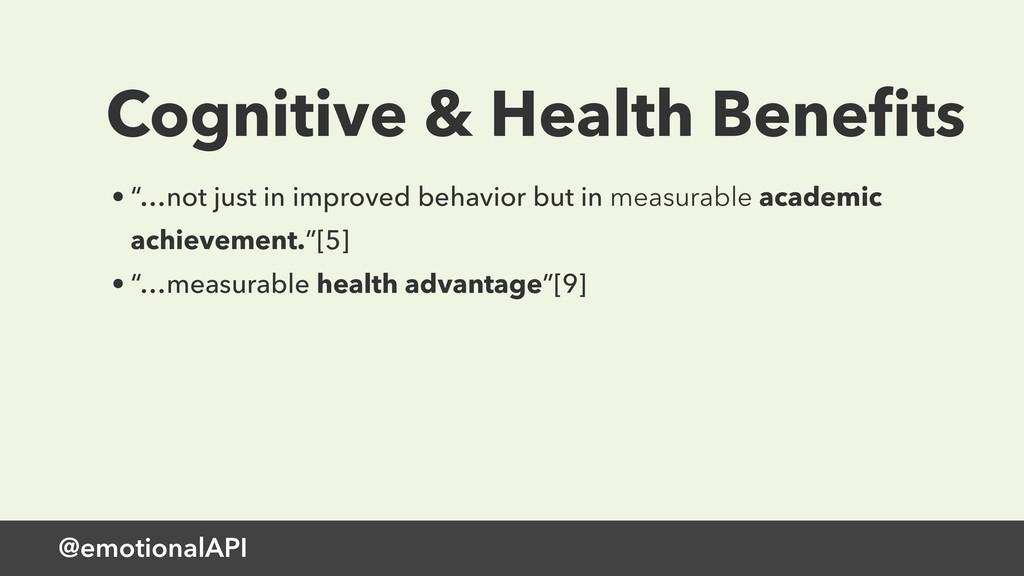 """@emotionalAPI Cognitive & Health Benefits • """"…no..."""
