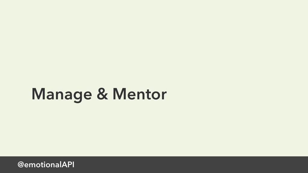 @emotionalAPI Manage & Mentor