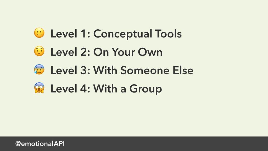 @emotionalAPI  Level 1: Conceptual Tools  Level...