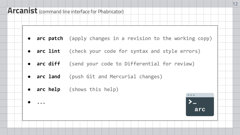 12 Arcanist (command line interface for Phabric...
