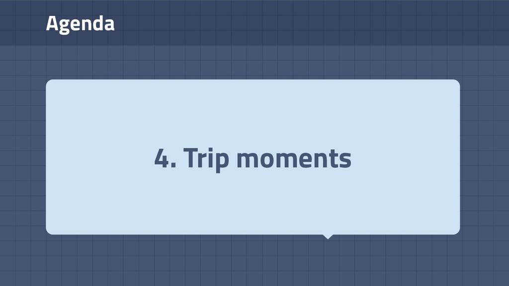 Agenda 4. Trip moments