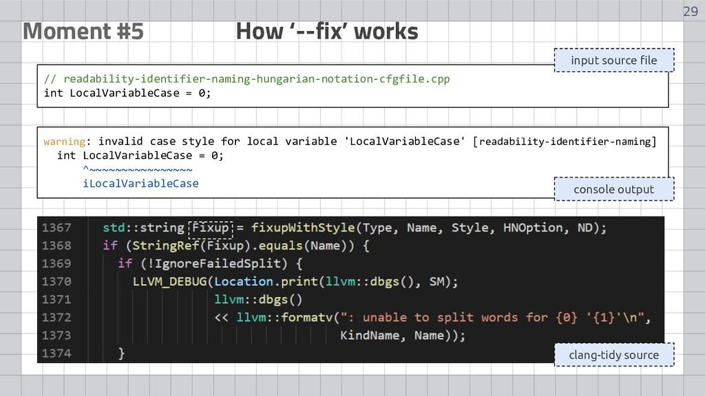 29 Moment #5 How '--fix' works // readability-i...