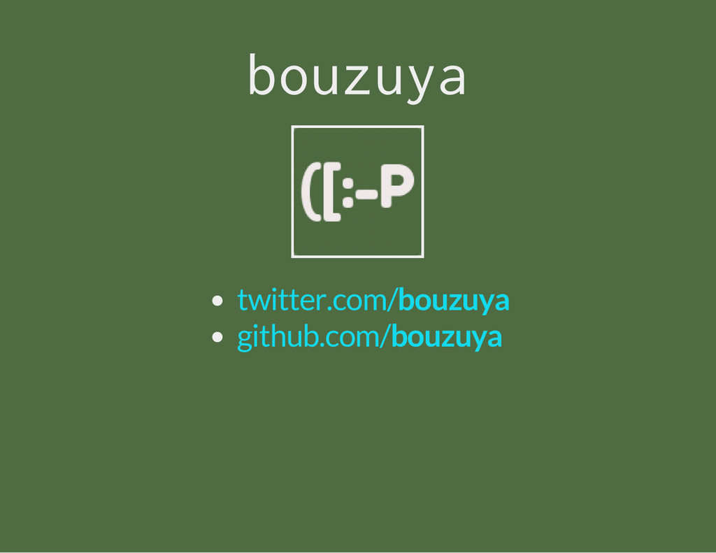 b o u z u y a twitter.com/bouzuya github.com/bo...