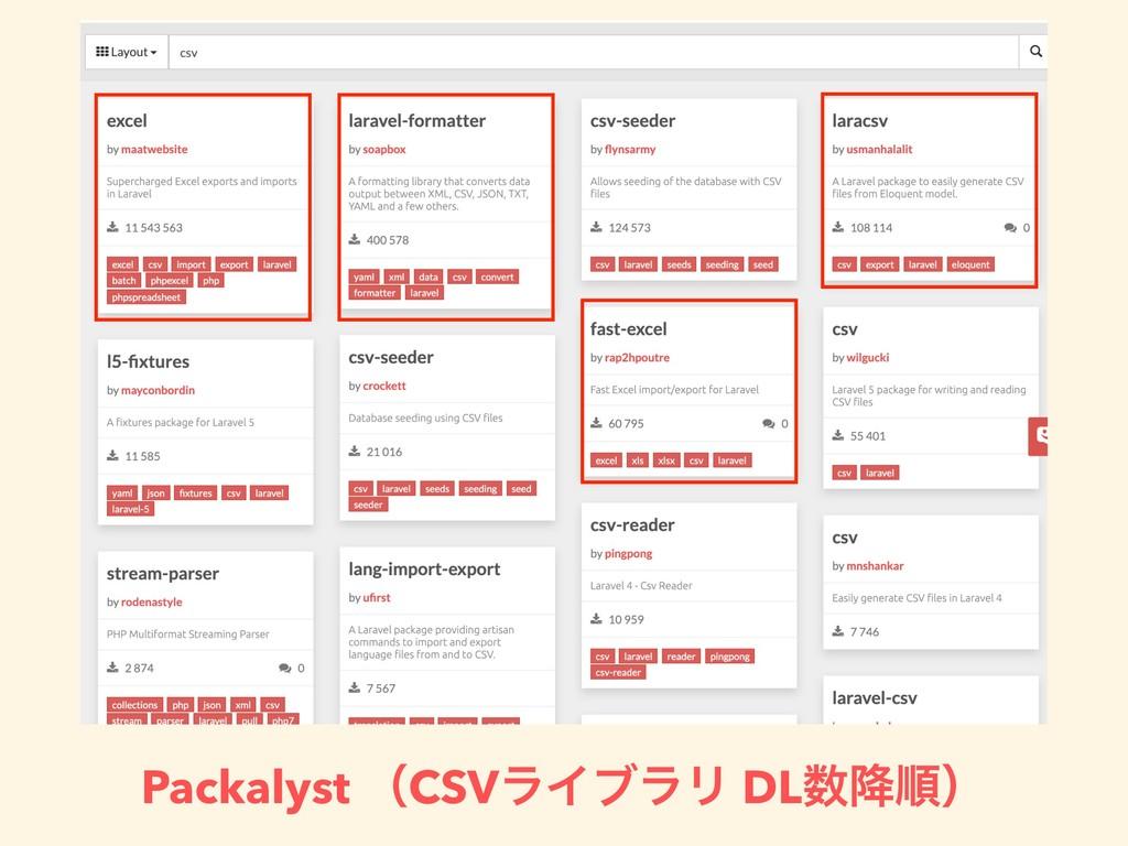Packalyst ʢCSVϥΠϒϥϦ DL߱ॱʣ