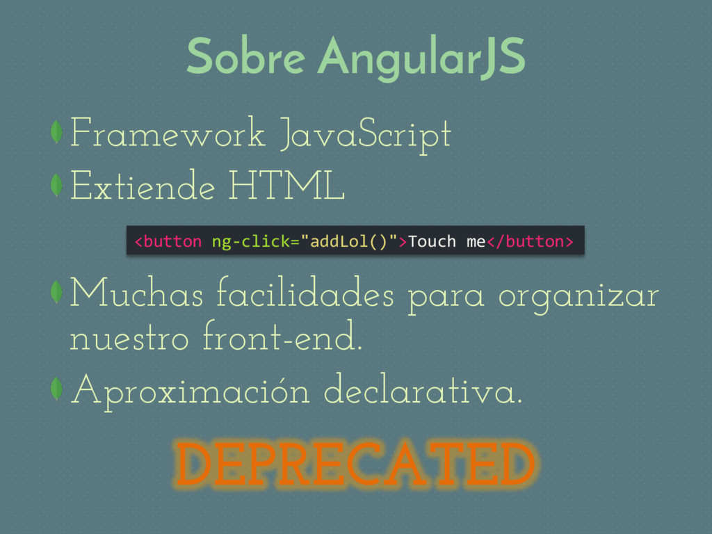 Sobre AngularJS Framework JavaScript Extiende ...
