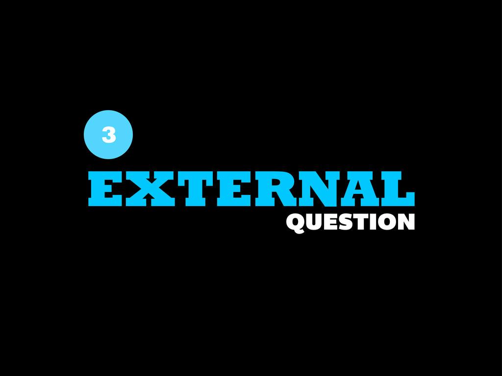 3 EXTERNAL QUESTION