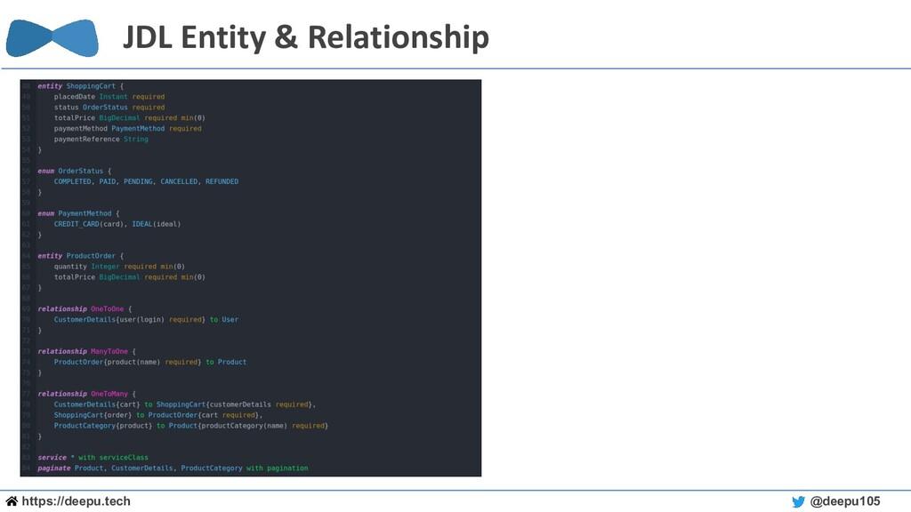 https://deepu.tech @deepu105 JDL Entity & Relat...