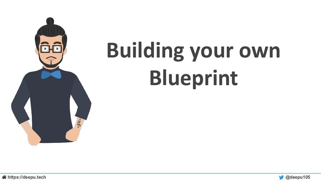 https://deepu.tech @deepu105 Building your own ...