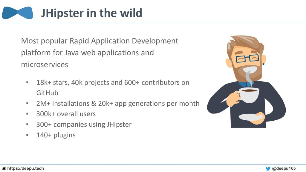https://deepu.tech @deepu105 JHipster in the wi...