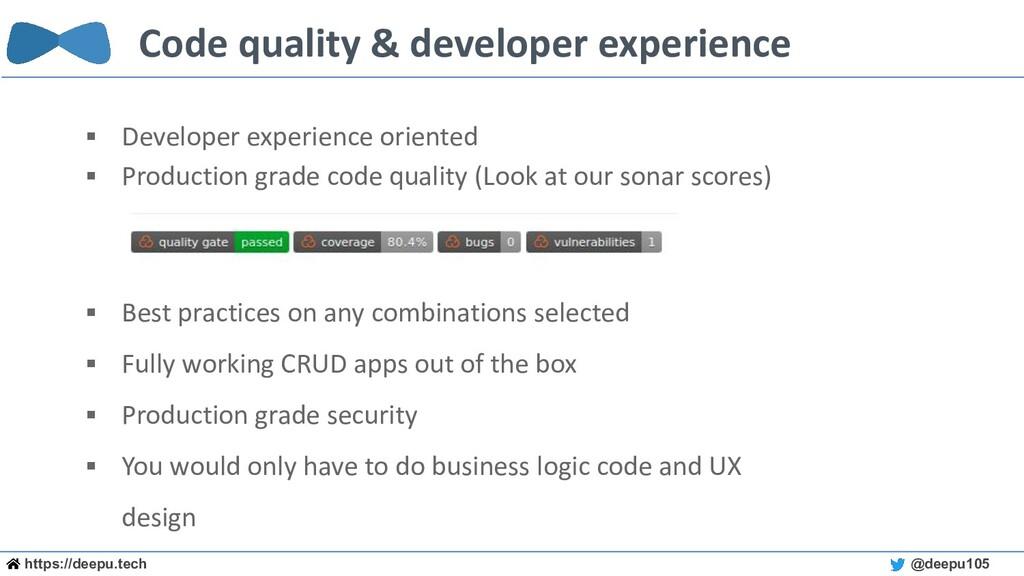 https://deepu.tech @deepu105 Code quality & dev...