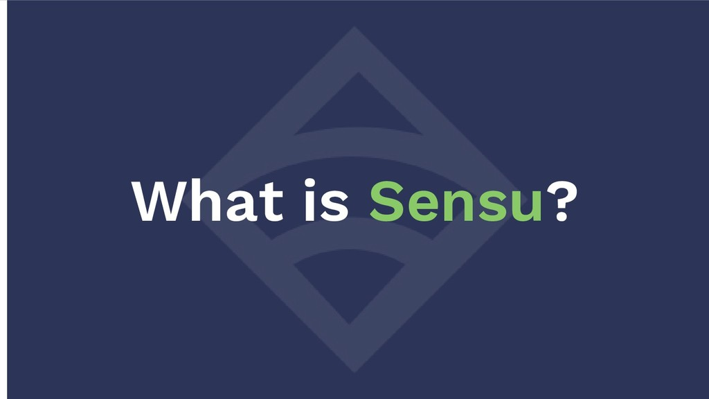 What is Sensu?