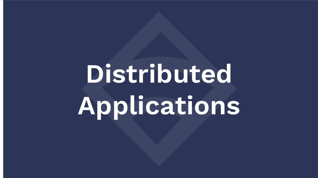 Distributed Applications