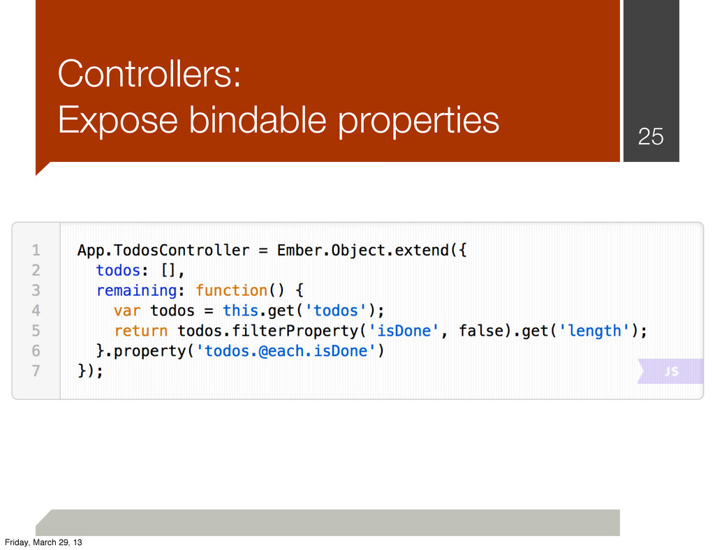 Controllers: Expose bindable properties 25 Frid...