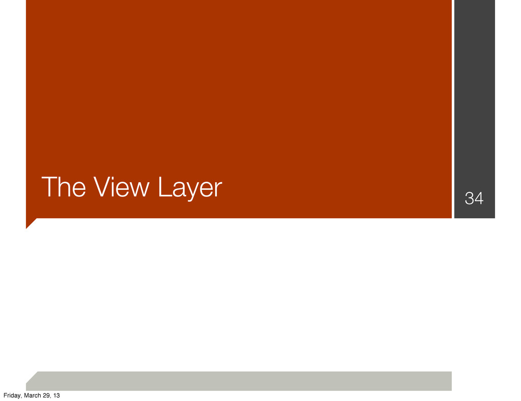 The View Layer 34 Friday, March 29, 13