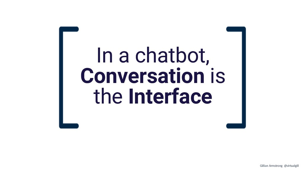 In a chatbot, Conversation is the Interface Gil...