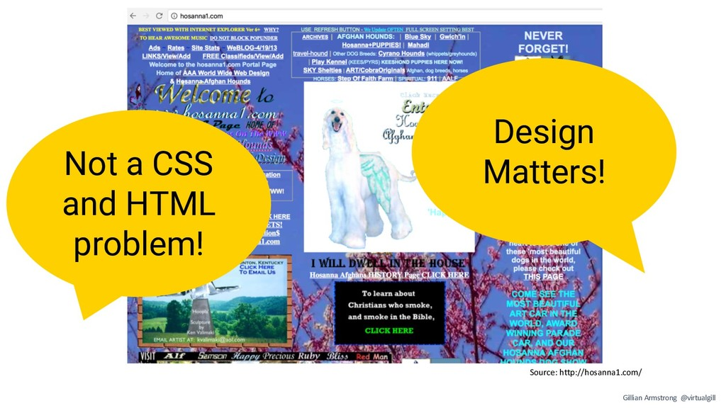 Source: http://hosanna1.com/ Not a CSS and HTML...