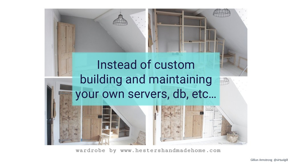 Instead of custom building and maintaining your...