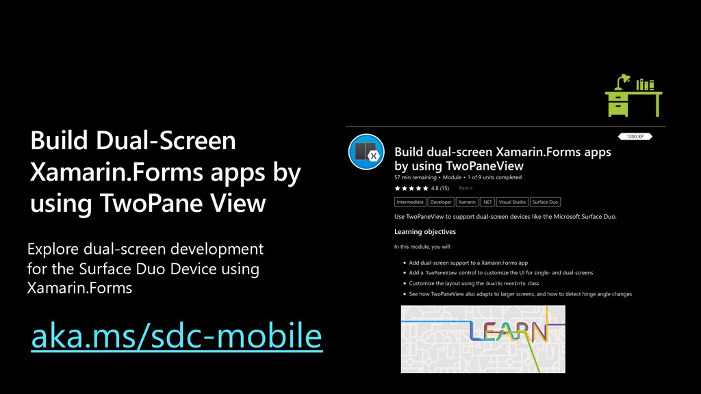 Build Dual-Screen Xamarin.Forms apps by using T...