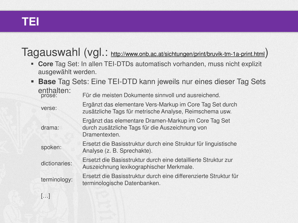 Tagauswahl (vgl.: http://www.onb.ac.at/sichtung...