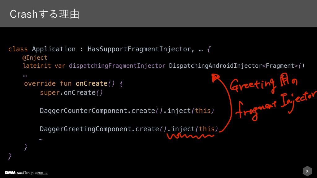 X © DMM.com $SBTI͢Δཧ༝ class Application : HasSu...