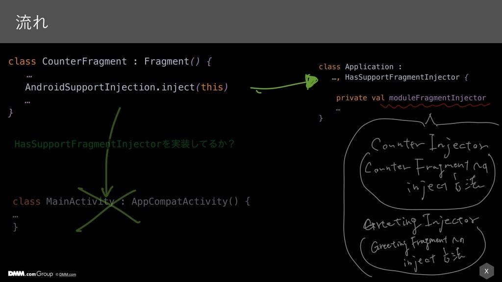 X © DMM.com ྲྀΕ class Application : …, HasSuppor...