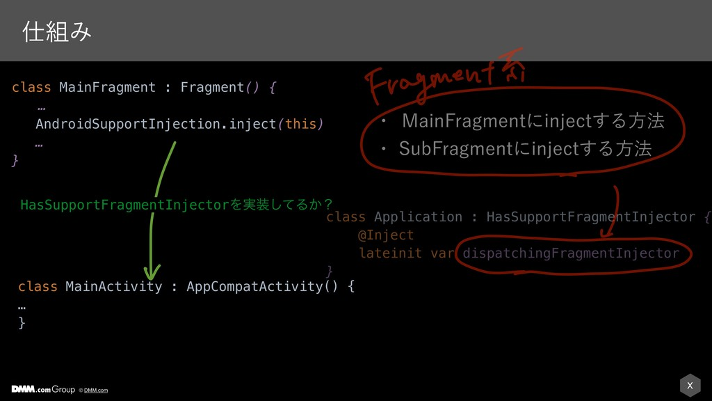 X © DMM.com ࢓૊Έ class Application : HasSupportF...