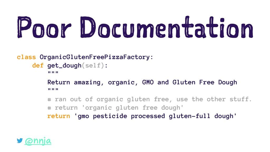 Poor Documentation class OrganicGlutenFreePizza...