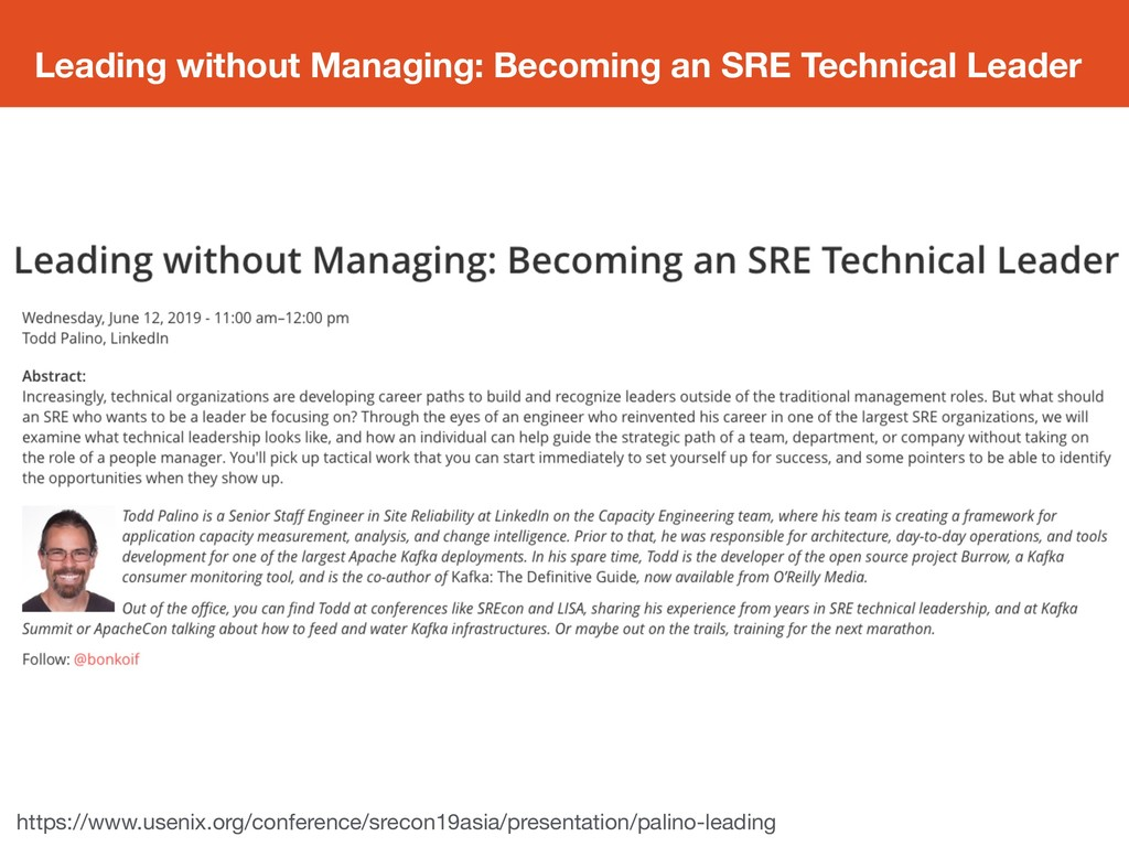Leading without Managing: Becoming an SRE Techn...