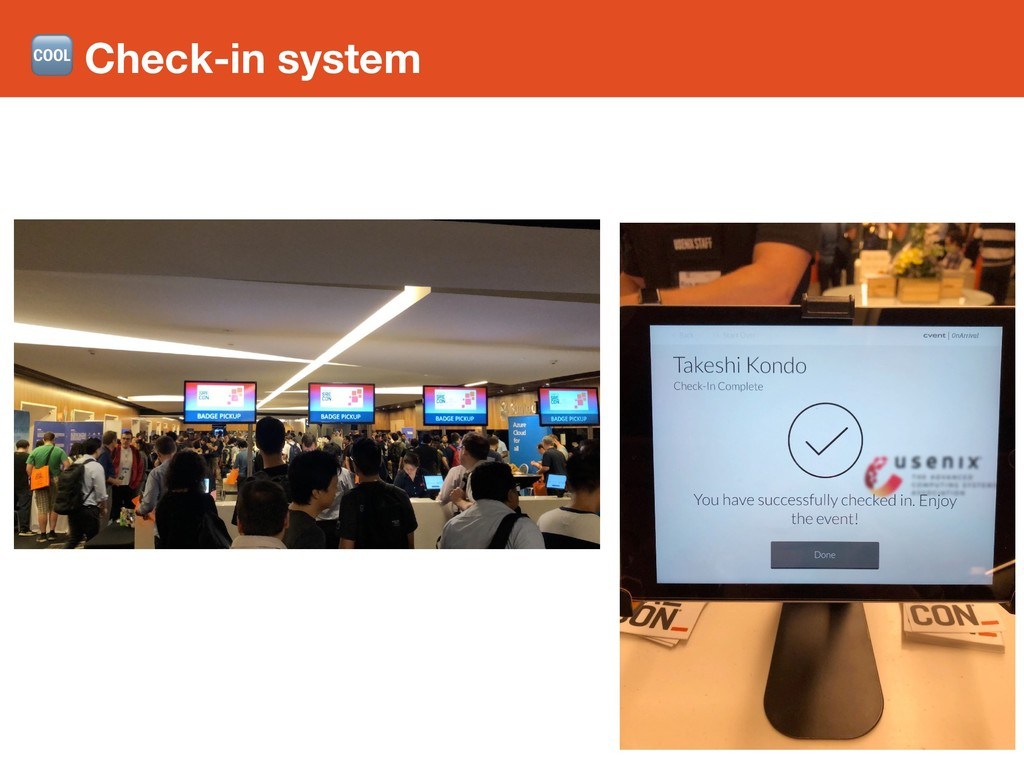 Check-in system