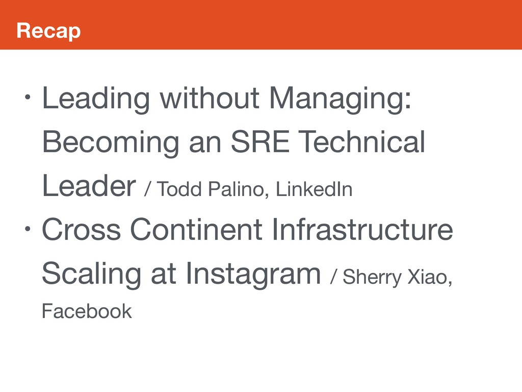 Recap • Leading without Managing: Becoming an S...