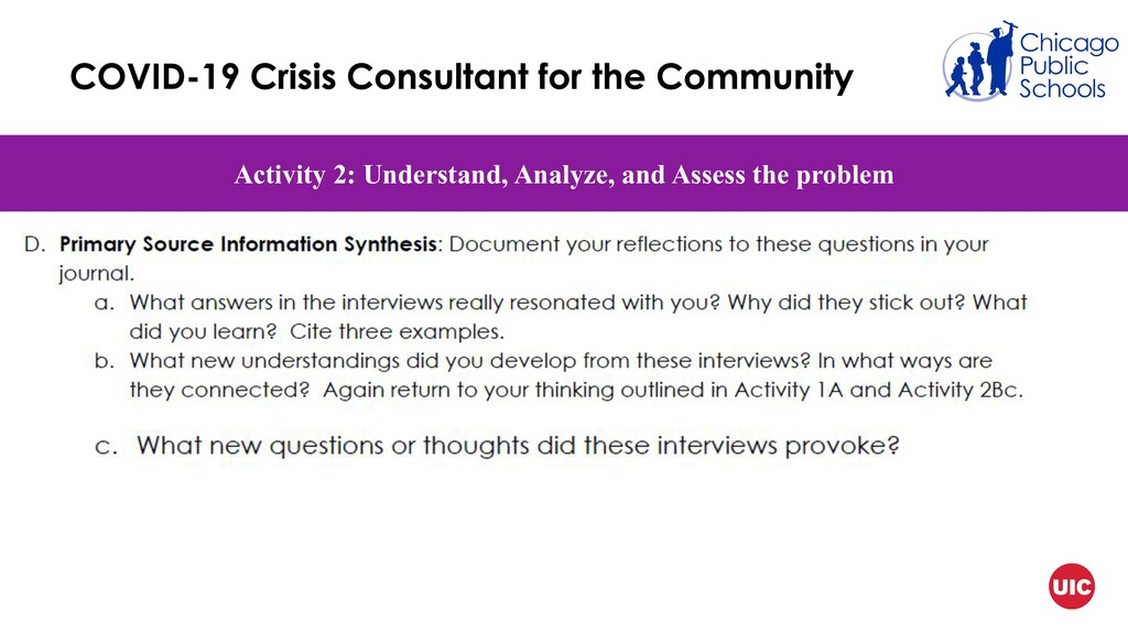 Activity 2: Understand, Analyze, and Assess the...