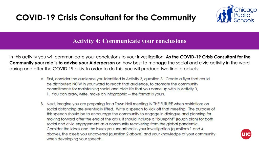 Activity 4: Communicate your conclusions