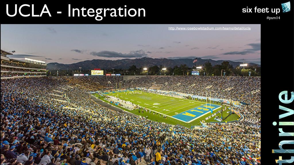 #psm14 UCLA - Integration http://www.rosebowlst...