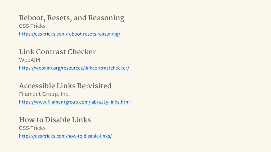 Reboot, Resets, and Reasoning CSS-Tricks https:...