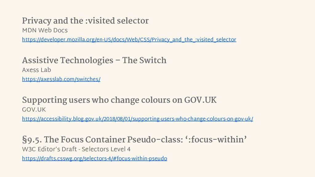 Privacy and the :visited selector MDN Web Docs ...