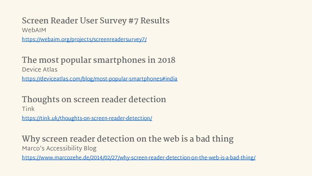 Screen Reader User Survey #7 Results WebAIM htt...