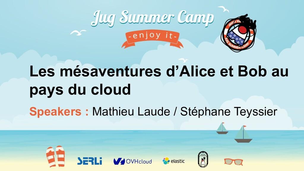 Speakers : Mathieu Laude / Stéphane Teyssier Le...