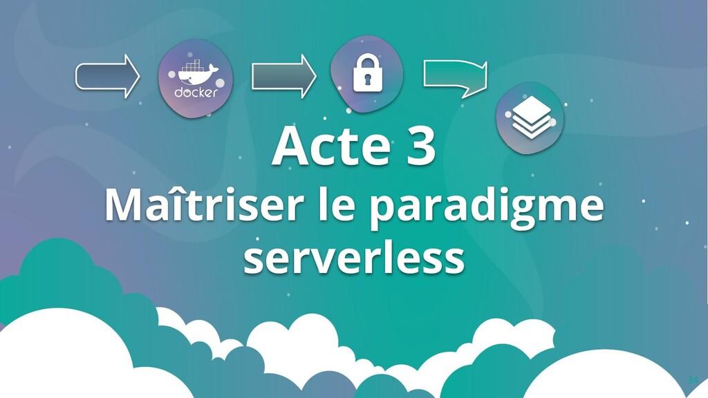 34 Acte 3 Maîtriser le paradigme serverless