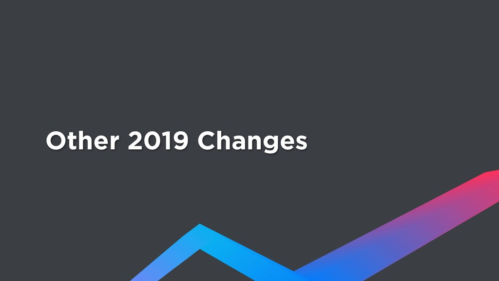 Other 2019 Changes
