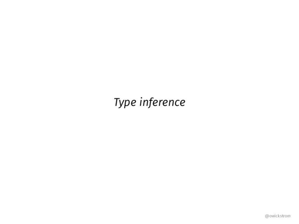 Type inference @owickstrom