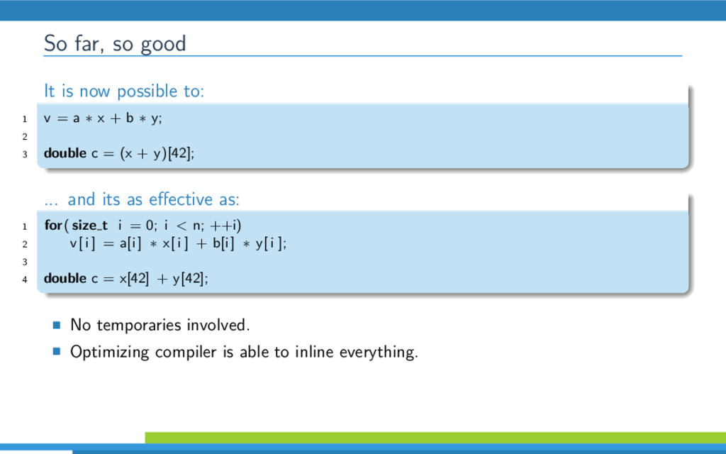 So far, so good It is now possible to: 1 v = a ...