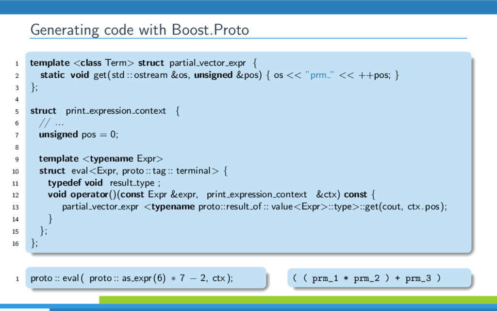 Generating code with Boost.Proto 1 template <cl...
