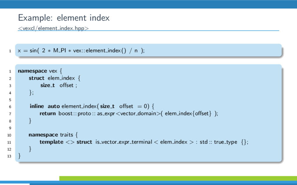 Example: element index <vexcl/element index.hpp...