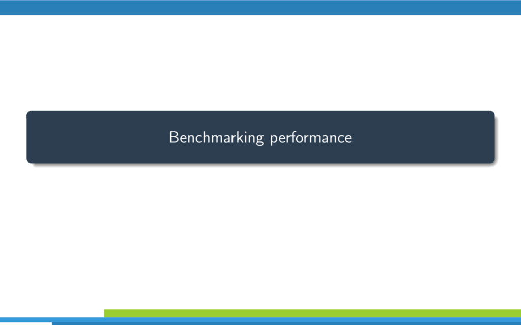 Benchmarking performance