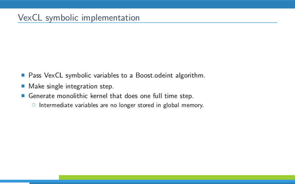 VexCL symbolic implementation Pass VexCL symbol...
