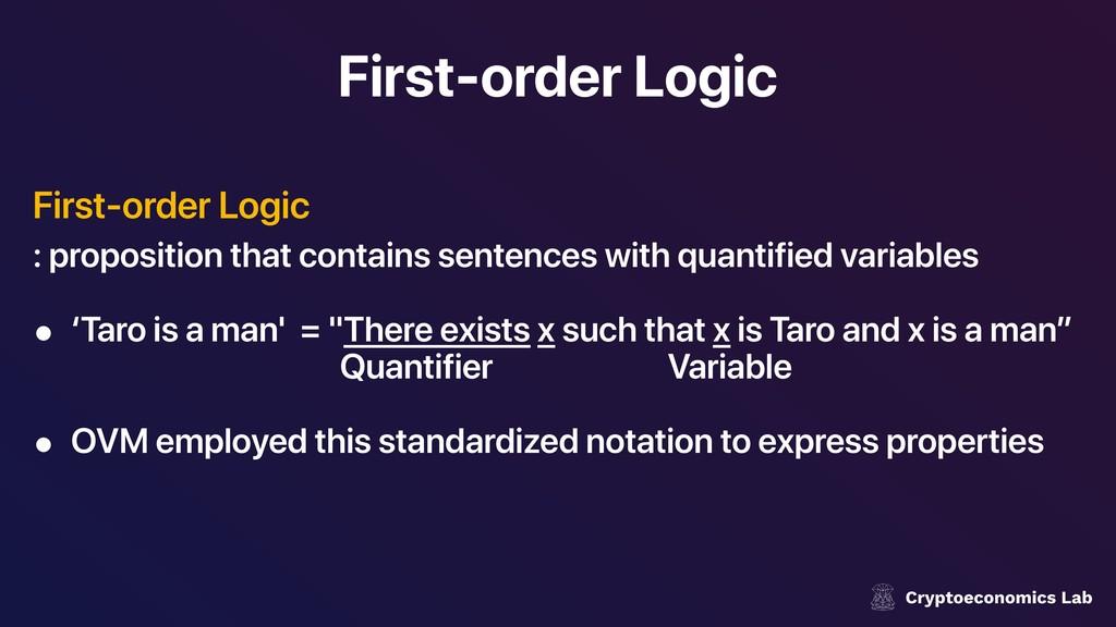 First-order Logic First-order Logic : propositi...